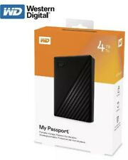 WD - My Passport 4TB External USB 3.0 Portable Hard Drive with Hardware Encry‼️✅