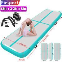 3M//4M//5M//6M Turnmatte Air Mat Track Tumbling Matte Aufblasbar Gymnastikmatte DE