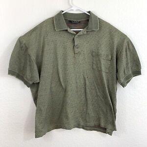 ARTURO GARIBALDI Italian Wear Men's Green Short Sleeve Polo 2XB Egyptian Cotton