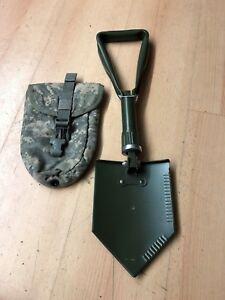 US Army  MOLLE II Klappspaten Neuware +  E-Tool Carrier Tasche gebraucht