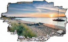 Strand Beach Sonnenuntergang Wandtattoo Wandsticker Wandaufkleber C0830