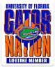 "Florida: University of Florida ""Gator Nation Lifetime Member with Albert"" MAGNET"