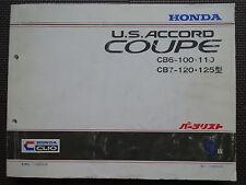 JDM HONDA U.S. ACCORD COUPE CB6 CB7 Original Genuine Parts List Catalog