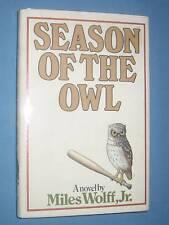 baseball fiction  *  SEASON OF THE OWL  *  1st ed