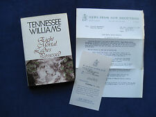 TENNESSEE WILLIAMS - Eight Mortal Ladies Possessed - Review Copy wi Pub. Notice