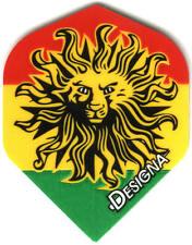 Rasta Lion Dart Flights: 3 per set
