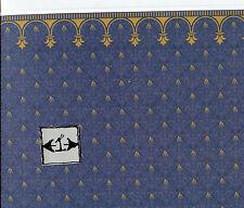 "Brodnax Prints ""Flambeau"" 1VT320  Victorian wallpaper dollhouse 1/12 scale"