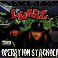 LUNIZ - OPERATION STACKOLA  CD 16 TRACKS HIP HOP/RAP/HARDCORE/CREDIBLE NEU