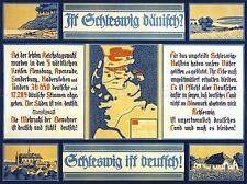 ADVERT NATIONAL BOUNDARY SCHLESWIG GERMANY DENMARK ART POSTER PRINT LV6993