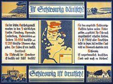 ADVERT NATIONAL BOUNDARY SCHLESWIG GERMANY DENMARK ART POSTER PRINT LV6993