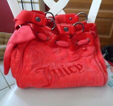 juicy couture Day dreamer handbag bright orange red  velour