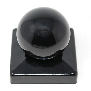 3 INCH (75mm) & 4 INCH (100mm) METAL BALL FINIALS BLACK - DISCOUNT FOR QUANTITY