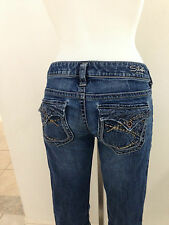Silver PIONEER Womens Size 28 x 33 Flap Pocket Jeans Pants ~USED
