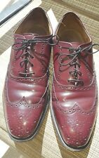 Vintage Stetson Shoes Size 10D.  Leather Burgundy Long Wingtip Oxford Shoes