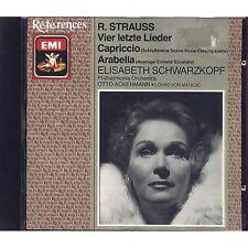 R.STRAUSS - Vier letzte lieder ELISABETH SCHWARZKOPF OTTO ACKERMANN CD 1987 USED