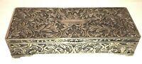 Vintage Rectangular Ornate Jewelry Box