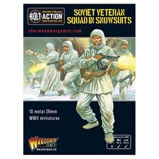 28mm Warlord Bolt Action Russian Veteran Squad In Snow Suits. BNIB WWII