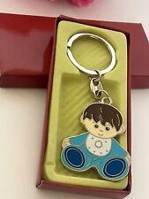 12-Baby Shower Boy Party Favors Keychains Favors Blue Party Recuerdos De Nino