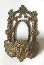 Dollhouse Miniature Ornate Gold Metal Victorian Wall Fountain Flower Pocket Vase