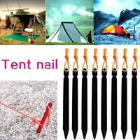 5*Durable Aluminium Alloy Tent Nail Stakes Outdoor Camping Snow Sand Peg Effic