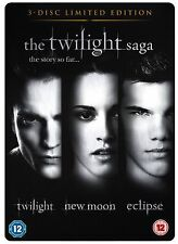 The Twilight Saga Triple Pack Trilogy DVD Kristen Stewart Robert Pattinson UK R2
