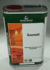 BORMA WACHS Sauna Holzöl Saunaöl Holzschutz 1000 ml
