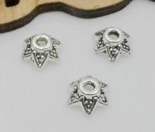 Free Ship 80Pcs Tibetan Silver Beautiful Beads Caps 6.5x3mm