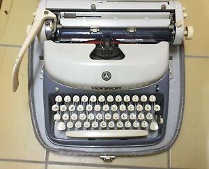 Antike Schreibmaschine Alpina 60er Jahre mit Tragekoffer