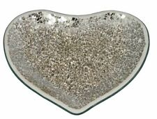 Champagne Mosaic Heart Shaped Plate