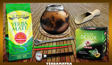Yerba Mate set  Yerba Mate 400 g + 100g tea bags TARAGUI BIG GOURD 350 ml +Straw