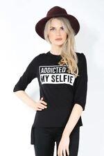 Magliette da donna maniche a 3/4 con girocollo taglia S