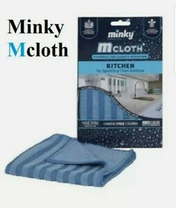 Minky M Cloth General Purpose Glass Window Kitchen Microfibre Cleaning Cloth UK