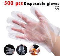 500 Plastic Gloves PREMIUM POLYTHENE Catering Hairdressers Butchers UK POST