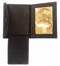 Black Concealed Carry Badge Holder Leather Security ID Card Case Shield Wallet