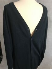 HARRINGTON Mens Cardigan Sweater Navy Blue Size XL Button-Front NWT