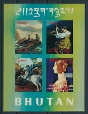 [104079] Bhutan 1970 Art paintings Plastic 3D effect Sheet MNH