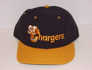 Vintage 90s San Diego CHARGERS NEW ERA SnapBack HAT Cap LowProfile NEW Old Stock