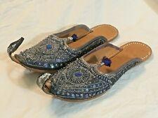 Vintage Handmade Aladdin / Ottoman / Embroidered Arabic Turkish Leather Sandals