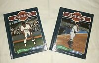 Lot of 2 Baseball Legends Books Babe Ruth & Willie Mays Chelsea House