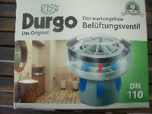 Lot Of 7 New  Durgo Ventilation valve DN 110 Units Mounting from 6 to 12 baths