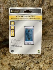 Defiant Backlit LCD Indoor Countdown Timer  PN 1 000 003 076 Touch Display NIB