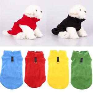 Fleece Pet Puppy Small Dog Cat Pet Clothes Dress Vest T Shirt Apparel Clothes