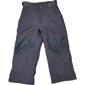 Vtg LL Bean Kids Youth Ski Snow Pants Nylon Size 5/6 Brown Insulated Boys Girls