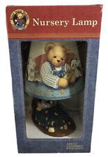 Rare Vintage Nos Blue Jean Teddy Bear Nursery Lamp 15� Tall Sealed B010
