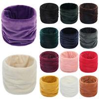 Fashion Winter Solid Warm Soft Gold Velvet Ring Scarf Neck Warmer Snood Scarves