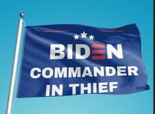 3x5 Flag Commander In Thief! Go Trump! Ships From Nevada