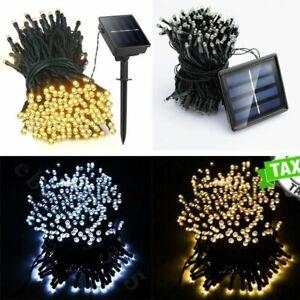 100-500 LED Solar Lichterkette Garten Außen Outdoor Beleuchtung Lampe Party Deko