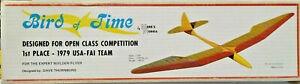 "NO PLANS 118"" BIRD OF TIME Sailplane Glider RC Balsa Airplane Kit Mark's Models"