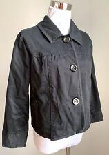 a.n.a Jacket  Black Cotton Casual 3/4 Slv Collar Short Stylish Sz M