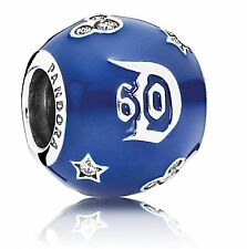 Pandora DISNEY 60th ANNIVERSARY Celebration D60 Blu Charm S925 ALE